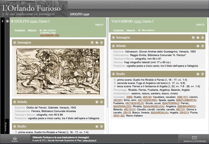 """L' """"Orlando Furioso"""" e la sua traduzione in immagini"""