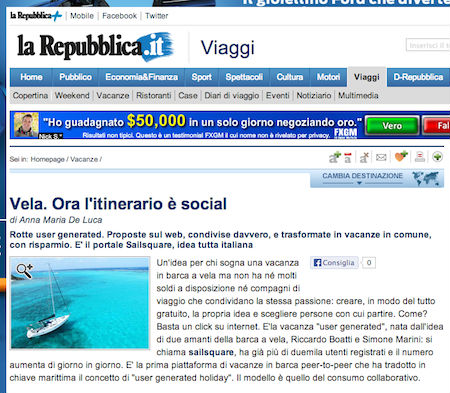 Sailsquare su Repubblica.it!