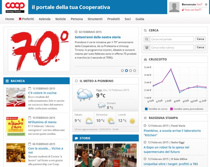 Intranet Unicoop Tirreno