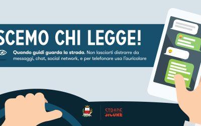 Scemo chi legge. Net7 realizza la campagna sulla sicurezza stradale del comune di Capannori