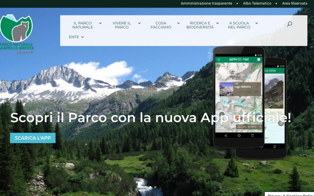 Sito del Parco nazionale Adamello Brenta